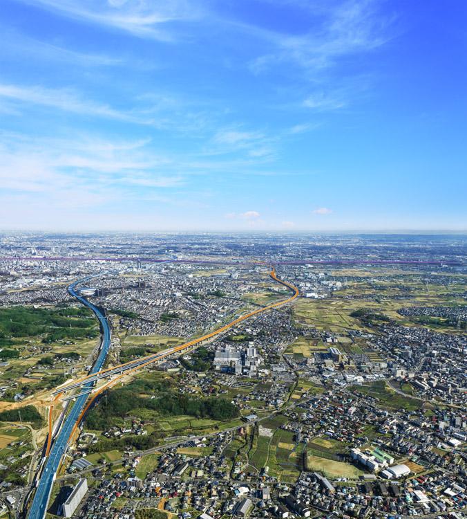3月17日に新東名の厚木南ICから伊勢原JCTまでが開通したことにより圏央道とのアクセスがダブルネットワークに。渋滞の時には東名(ブルー)と新東名(オレンジ)のどちらを使うか検討を(提供:NEXCO中日本)