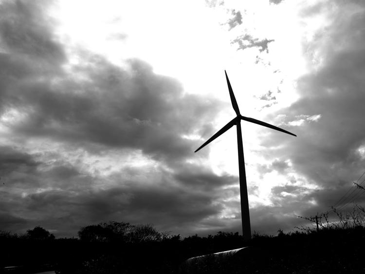 (3)風が止まる