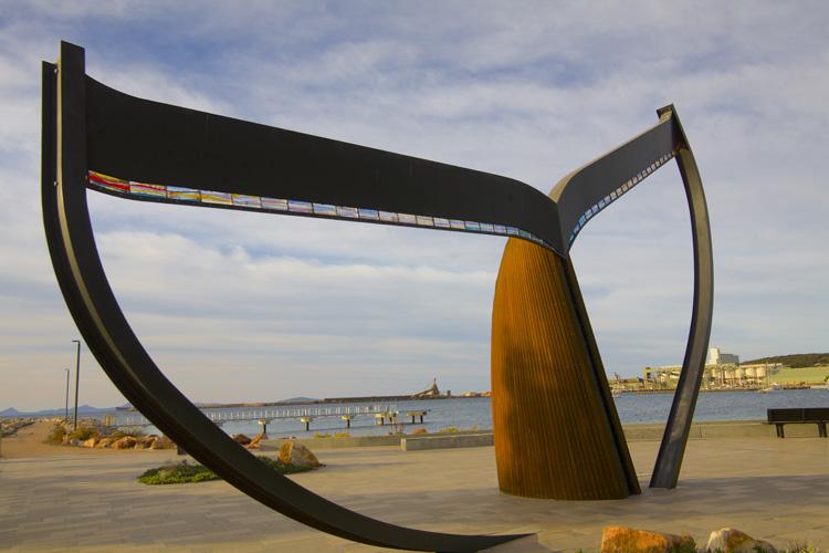 エスペランスの町のシンボル「ホエール・テイル」