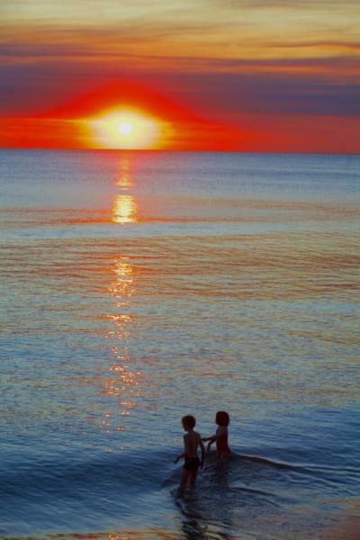 コッスロー・ビーチからの夕日