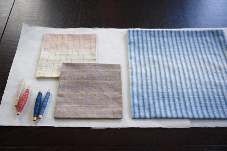 草木染と手織りが生み出す「アトリエシムラ」の風景のような着物