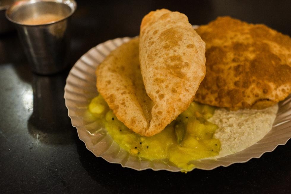 南インドで毎朝食べたプーリ