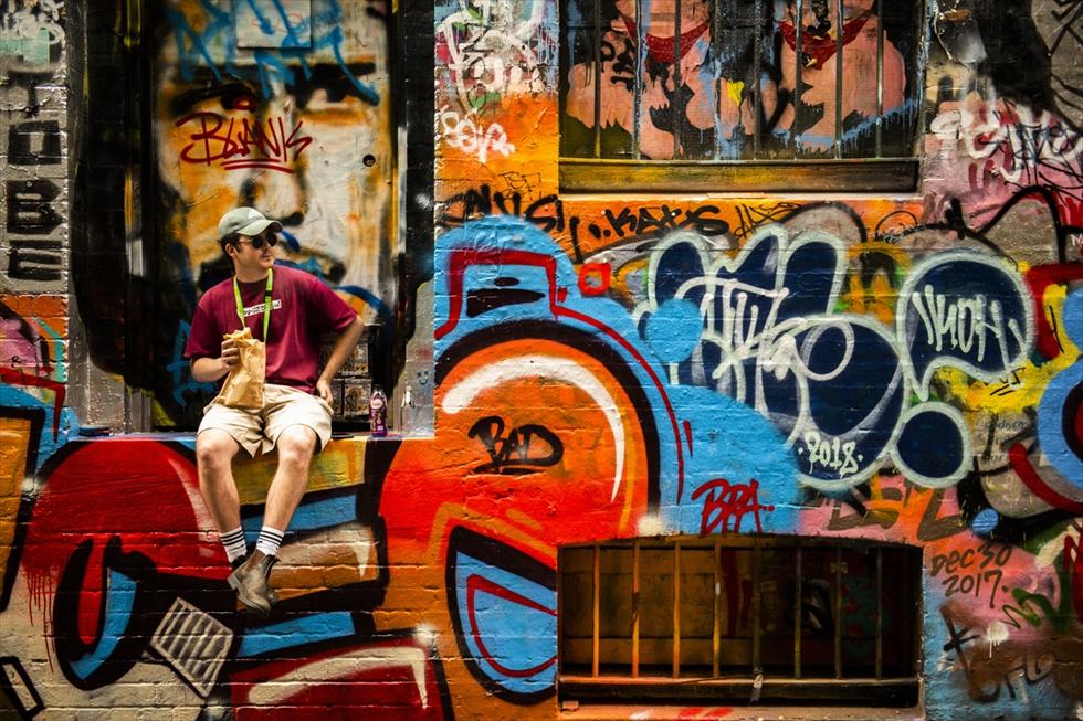 ウォールアートで彩られるメルボルンの街