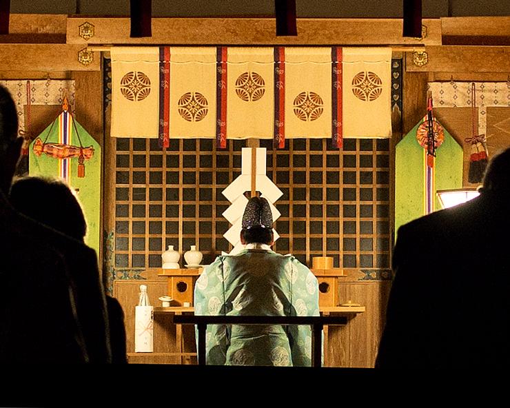 夜の隠岐神社まいり