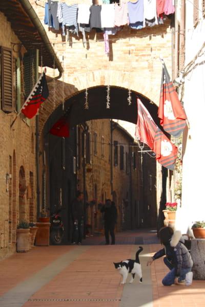 16世紀にフィレンツェ領となるまで、激しい領地争いが繰り返されたカーゾレ・デルザ。今は人口3800人余りののどかな村