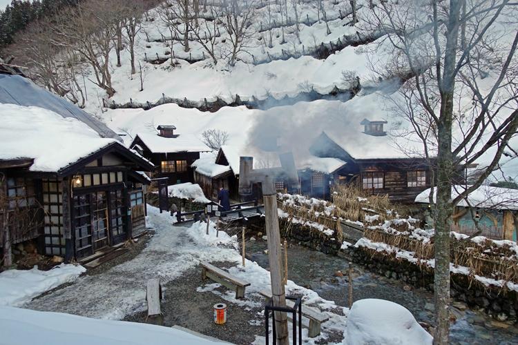 温泉の風景