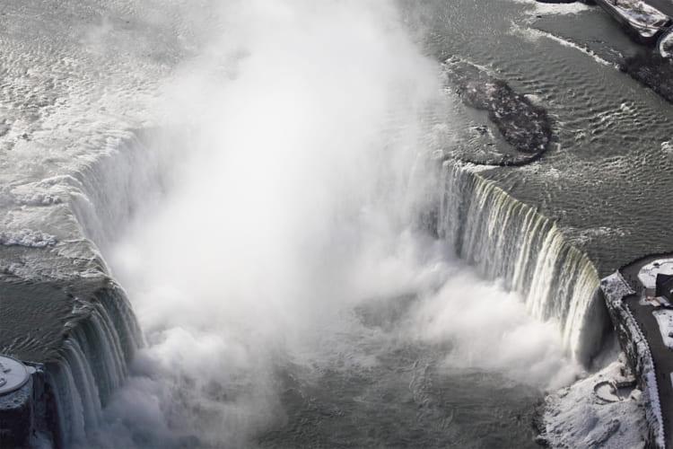 いてつくナイアガラの滝を上から横から真裏から楽しむ