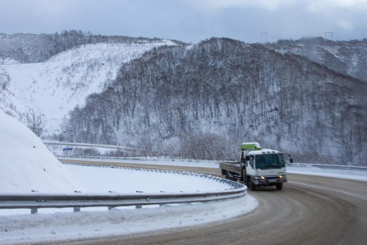 ホルムスクへは山越えの道