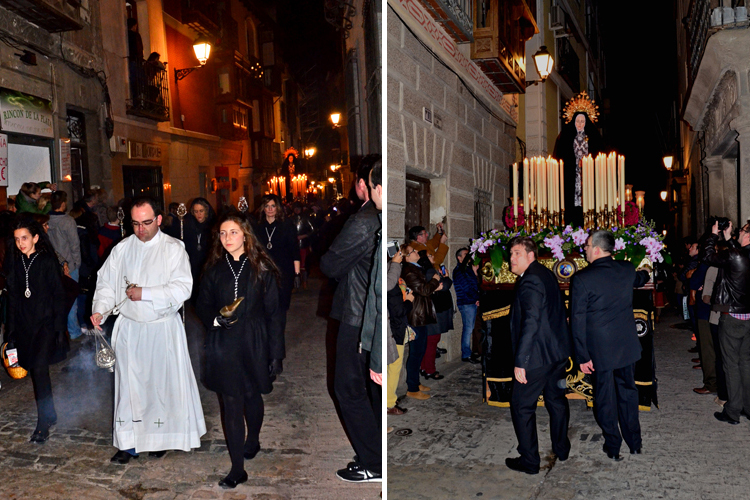 すごいオーラ! 「孤独の聖母の行列」 スペイン・トレド