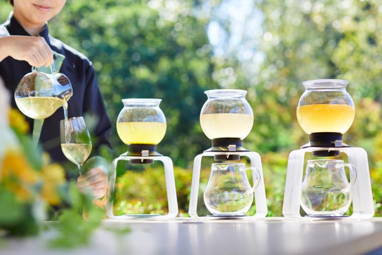 収穫したばかりの3種の新茶が楽しめる。界 遠州