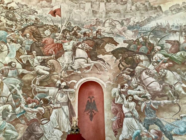 博物館の壁