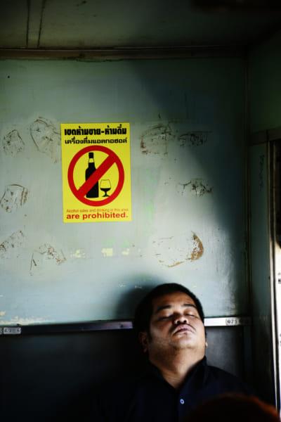 タイの列車の表示