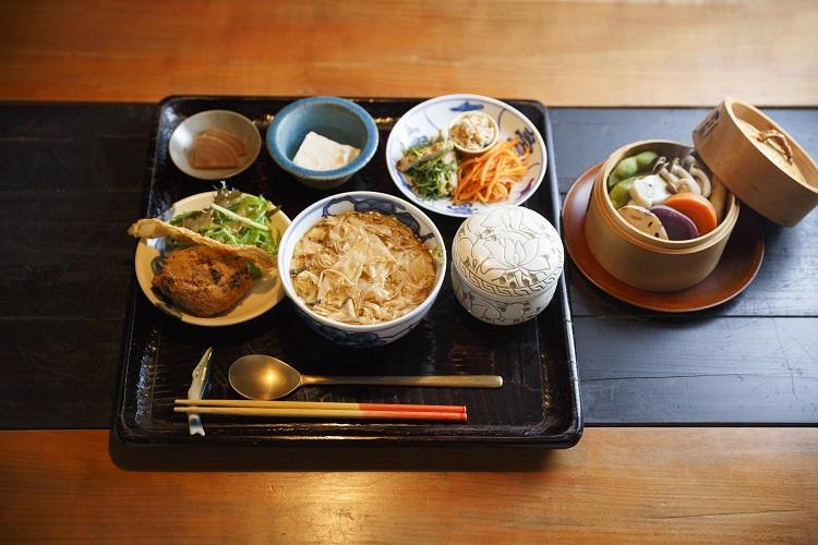 湯葉丼ランチセット