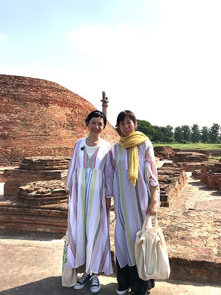 モデル・はな、仏教の源流、インドに初上陸!