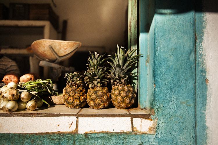 料理に大活躍 キューバのパイナップル