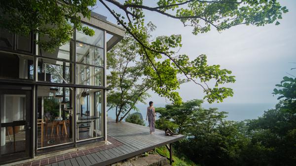 南伊豆のサルの楽園 民泊の別荘から眺める大海原