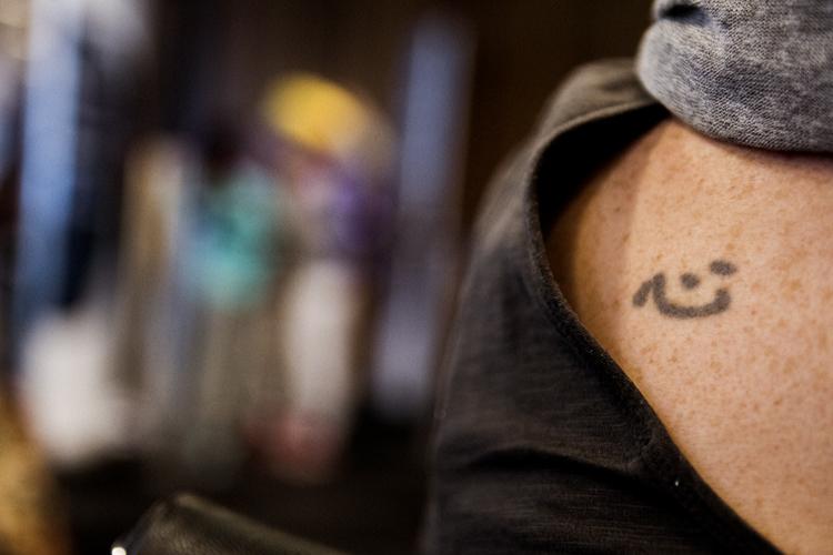 メルボルンのカフェで見た「心」の字