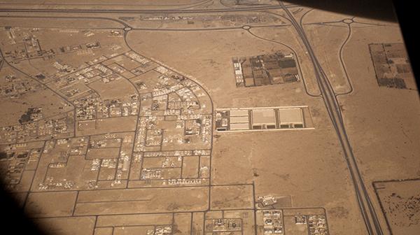 カタールの砂漠地帯に広がる景色