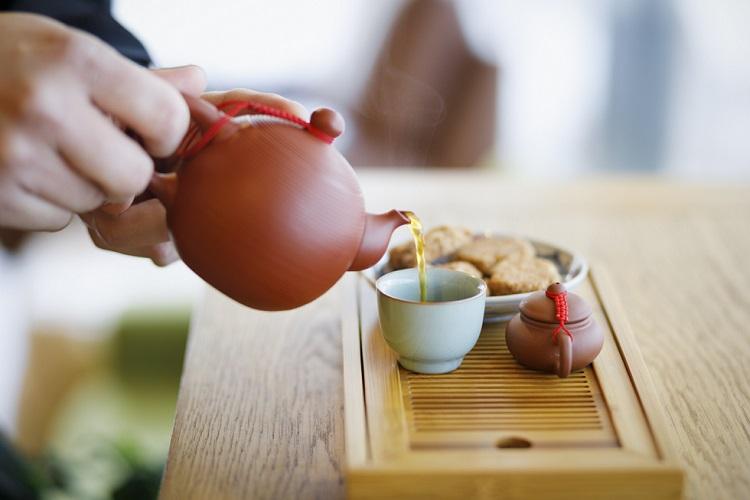 中国茶器でいれる「Goodman Roaster Kyoto」のコーヒー