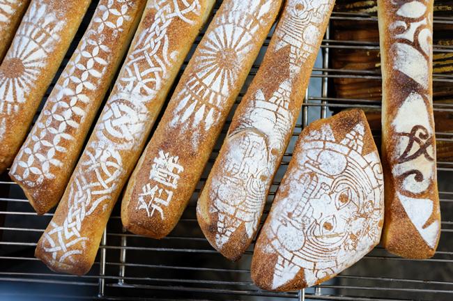 パラダイス・アレイのパンは、一目でわかる模様も特徴