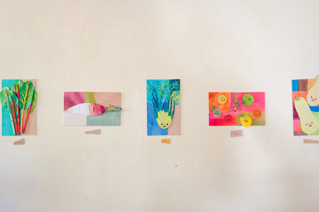 鎌倉在住のイラストレーター、大石香織さんの作品は、鎌倉野菜がモチーフ