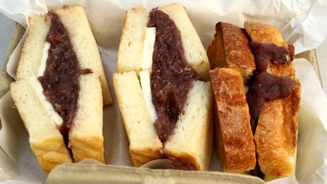 小倉と有塩バターのトーストサンド