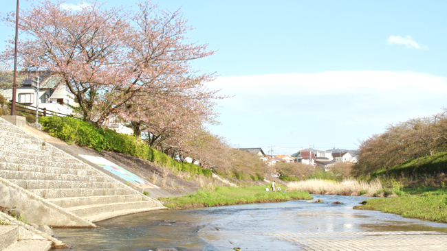 ペシュの近く朝倉川の眺め