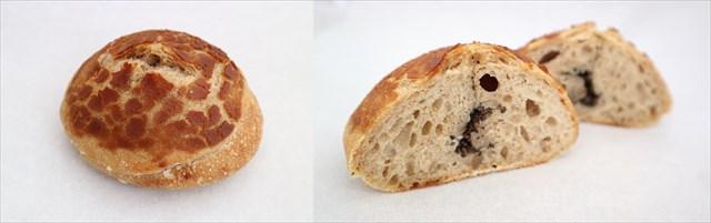 トリュフ入りパンとその断面