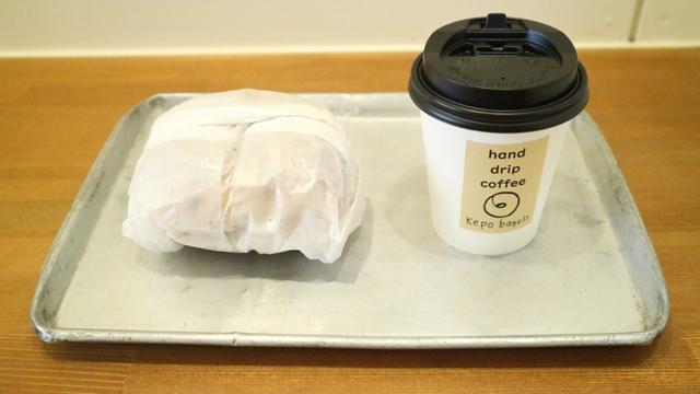 サーモンサンドとハンドドリップコーヒーをイートイン