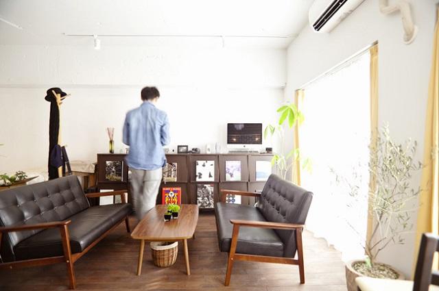 全体的におしゃれなカフェのような空間に仕上がった