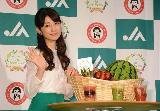 「JAベジカレッジ」で、小倉優子さんが野菜のオリジナルスムージーを監修した