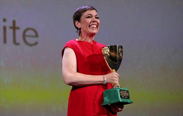 「The Favourite」で女優賞に選ばれたオリヴィア・コールマン/Reuters