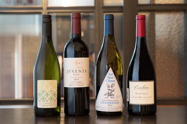 左から2番目は『ソラリス ユヴェンタルージュ 2014年』(マンズワイン/ボトル6800円)。ユヴェンタは「若い」という意味で、若い樹齢のブドウから造られている。フレッシュな果実味で、どんな料理にも合わせやすい