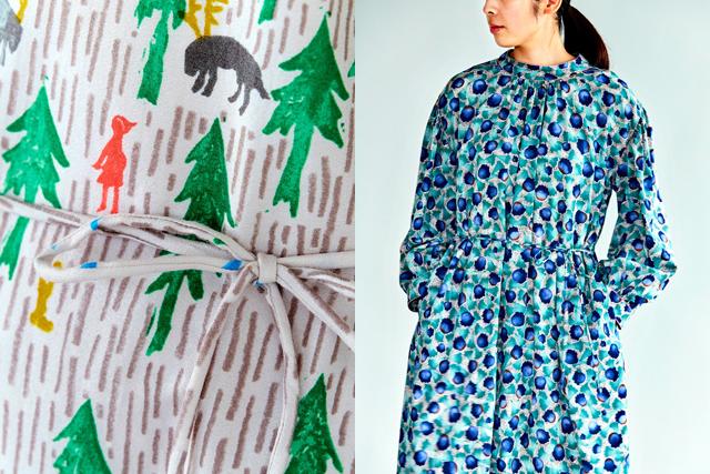 京友禅の技、飛び散る絵の具も再現 ミナペルホネンの布