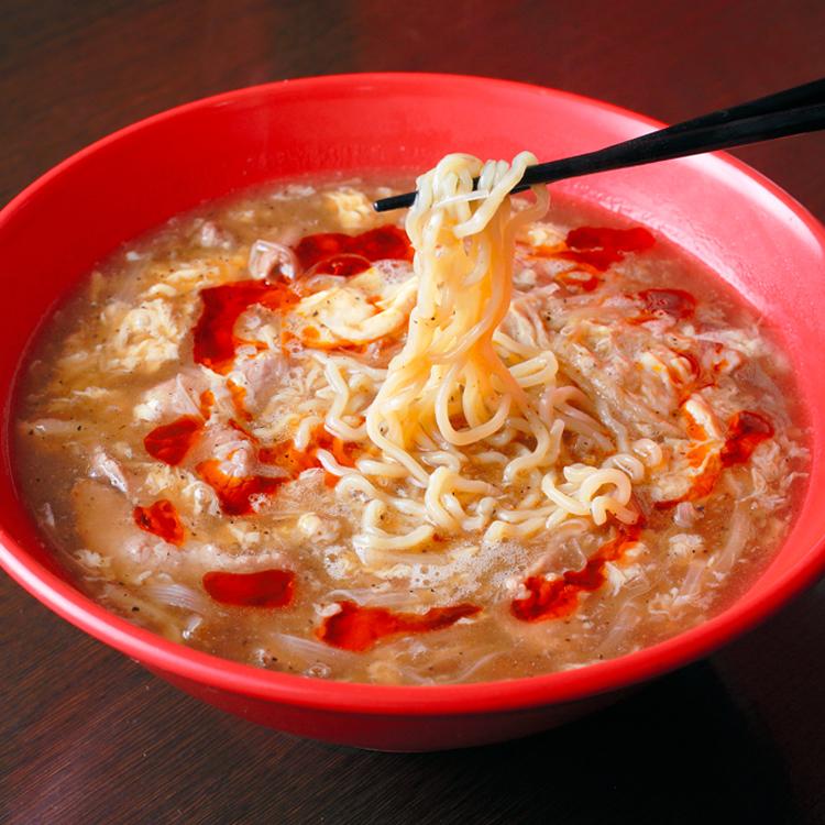 「食無双」のスーラー湯麺(タンメン) 詩歩さん