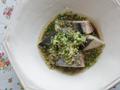 香草オイルをジュッ、中華風ふわふわ蒸し鰆。