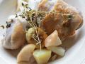 秋の味覚を詰め込んで。チキンと栗とりんごの蒸し煮