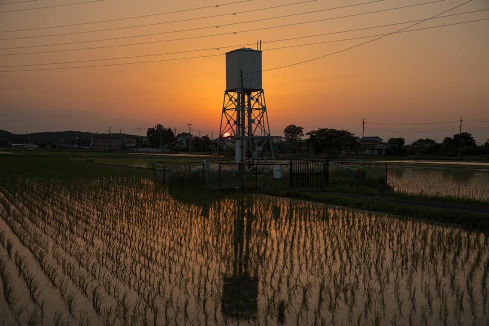 夕暮れの給水塔「Water Towers  ― Beyond The Twilight」