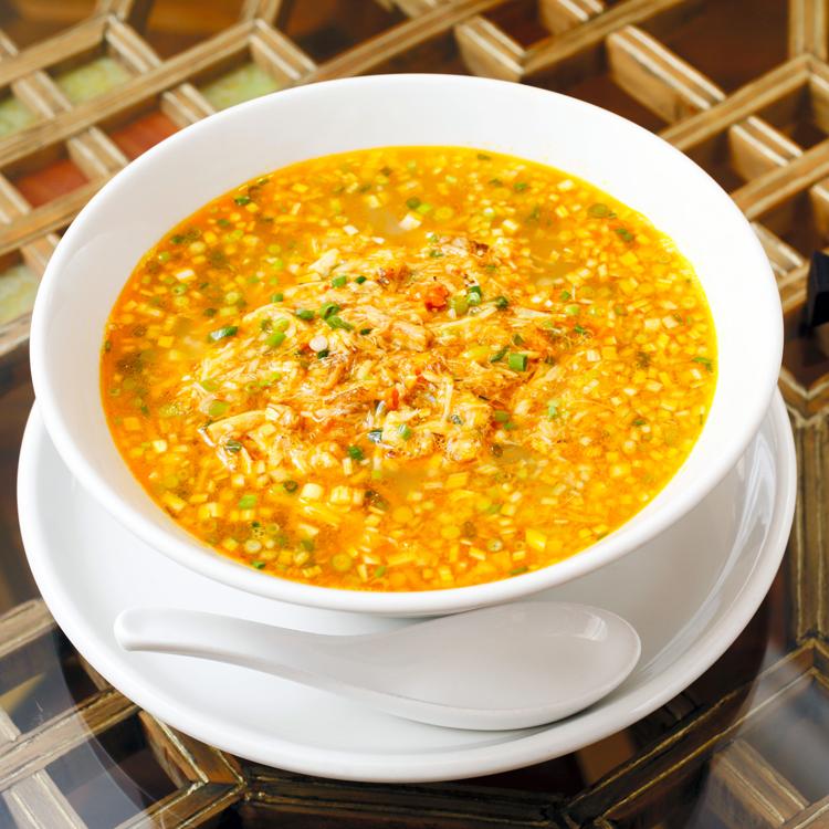 「富麗華」の上海蟹みそ、蟹だしのつゆ麺 檀ふみさん