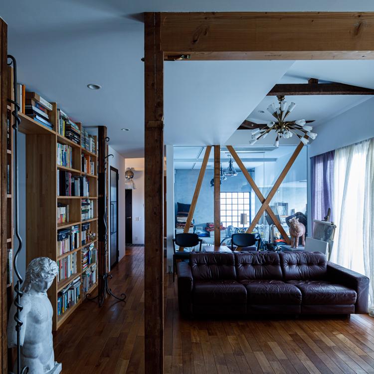 築50年以上の古さを生かし、デザインと素材にこだわった家づくり