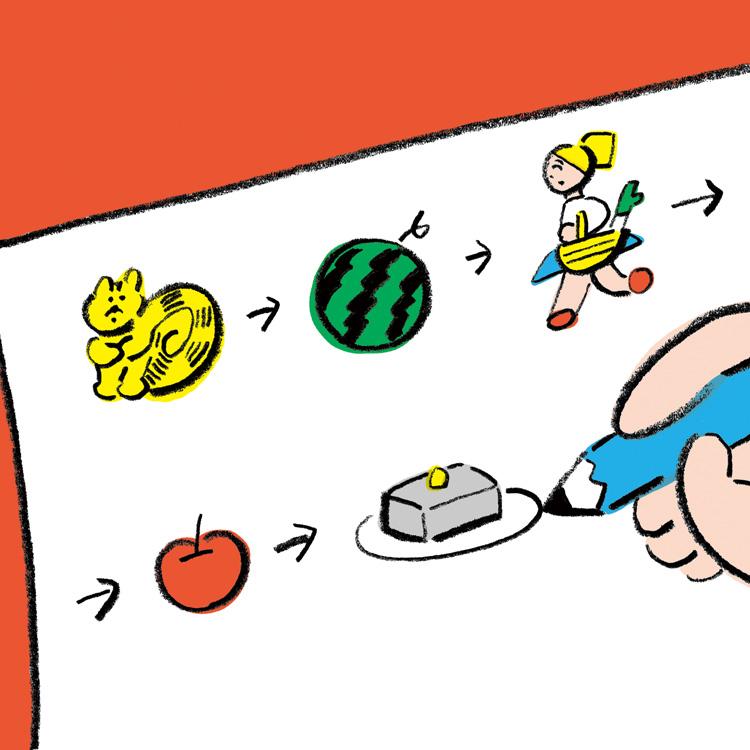 〈12〉離れた相手ともできる「絵しりとり」/ニシワキタダシさん