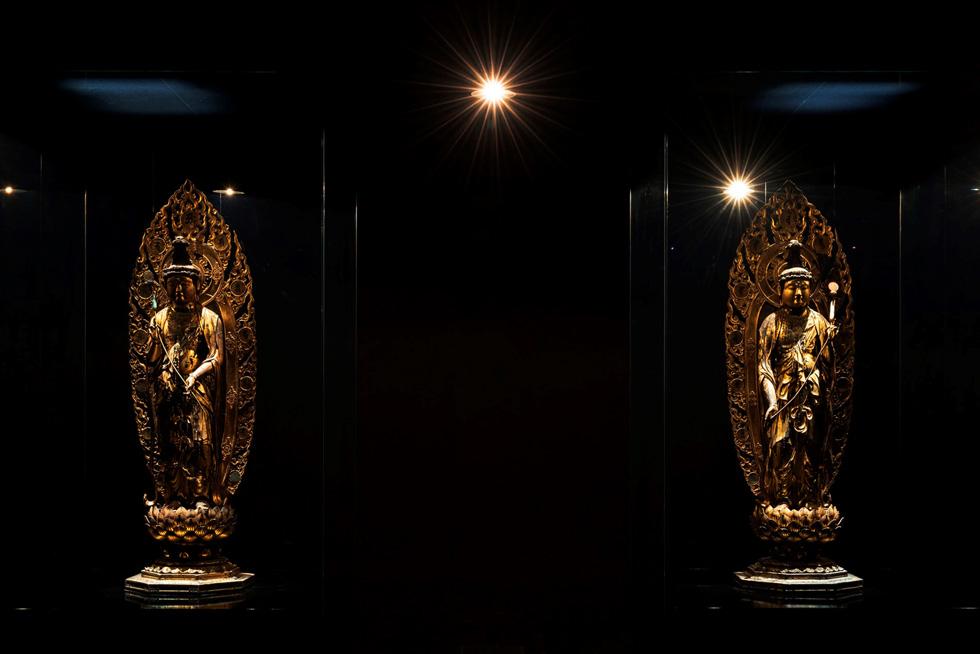「仏像×田根剛」の展示風景 撮影:上野則宏
