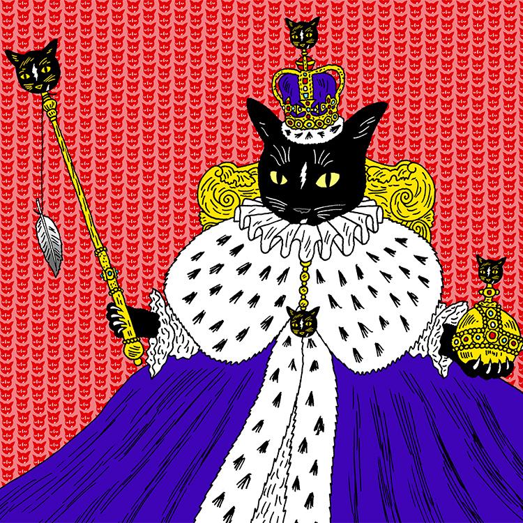 メス猫は女王。 Byシシとハナ(飼い主・関めぐみさん)