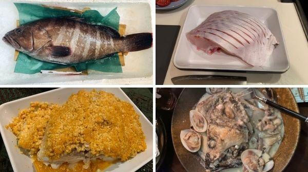 高級魚のマハタを生かした、おいしい豪快料理