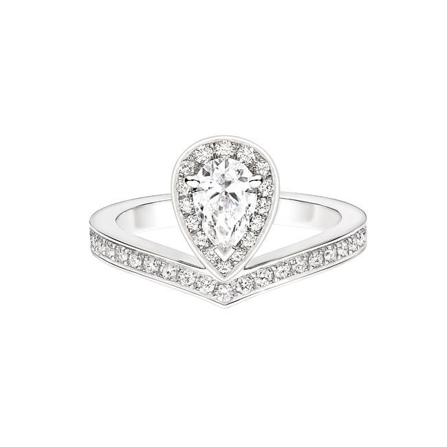 まるでティアラをリングにしたような煌めきと存在感。ショーメから新作ダイヤモンド リングが登場