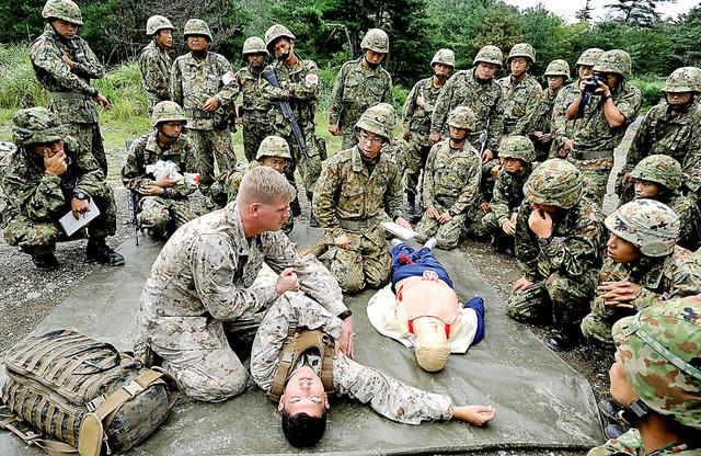 戦傷医療構築、急ぐ自衛隊:朝日新聞デジタル