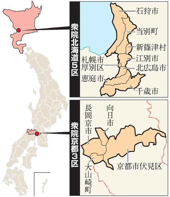 衆院2補選が告示 北海道5区・京...