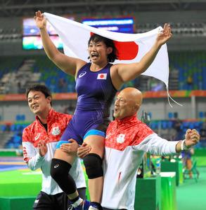 レスリング土性沙羅が金メダル 女子69キロ級