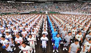 夏の甲子園開幕 台風で1日順延、開会式に2万4千人 - 高校野球:朝日 ...