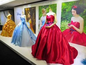 2e194c855e2f9 ディズニーで人気のプリンセスをイメージしたカラードレス。手前のダレノガレ明美さんが着ているのは「美女と野獣」のベル、右はシンデレラ=東京都港区 ...